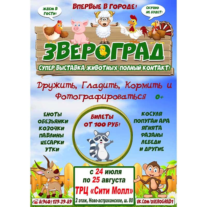 """Встречайте! Впервые в Саратове! Контактная зоовыставка """"Звероград""""!"""
